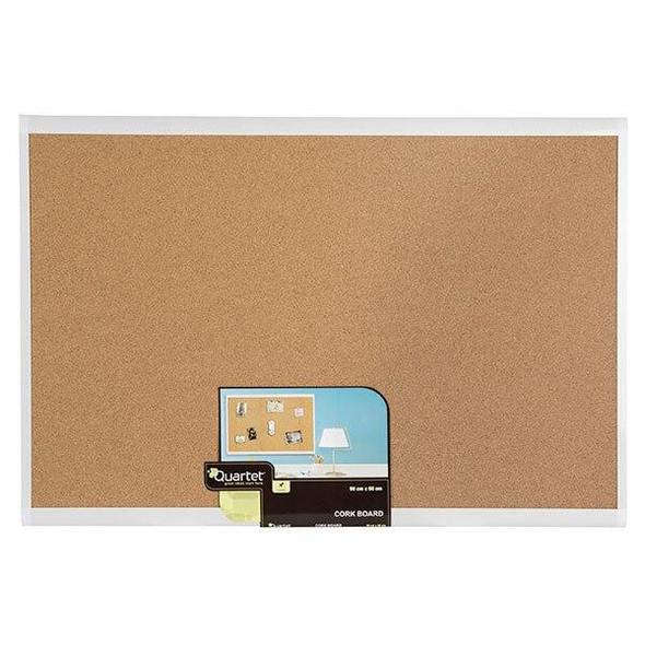 Quartet Corkboard White Frame 600x900mm X CARTON of 4 QTMHOB0906
