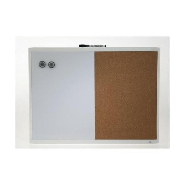 Quartet Combo Board White Frame 430x580mm X CARTON of 4 QTMHOC1723