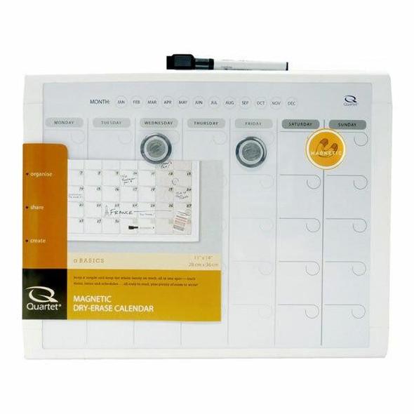 Quartet Planner Board Month 280x360mm Grey X CARTON of 4 QTMHOP1114