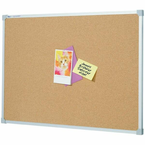 Quartet Penrite Corkboard Aluminium Frame 600x600mm QTNNC0606