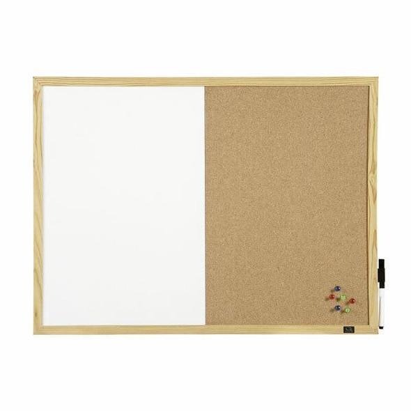 Quartet Combo Board Pine Frame 600x900mm QTNNCC0906