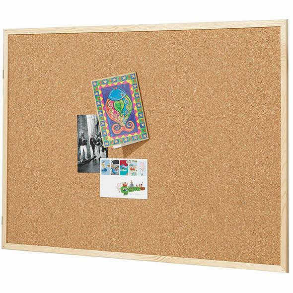 Quartet Corkboard Pine Frame 600x900mm QTNNCE0906