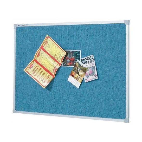 Quartet Penrite Bulletin Board Fabric 900x1200mm Wedgewood QTNNF1209W