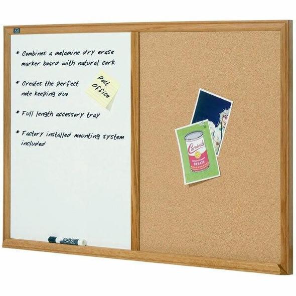 Quartet Combo Board Oak Frame 900x1200mm QTS554