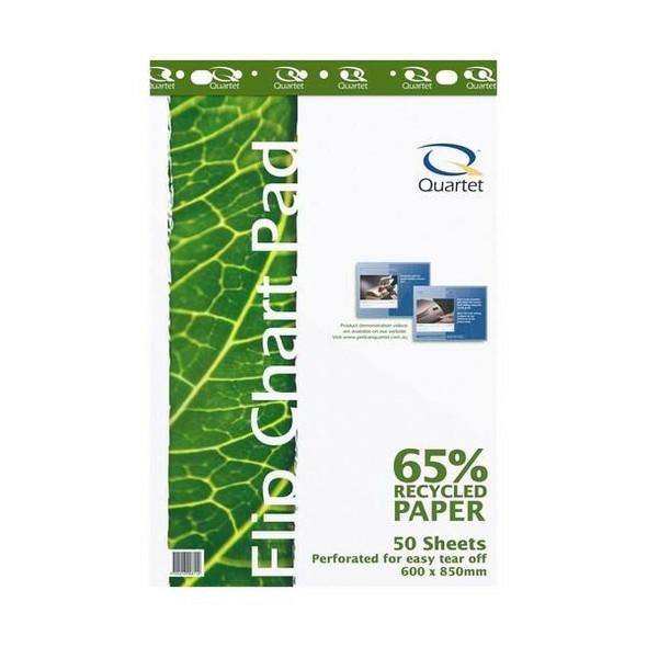 Quartet Flipchart Pad 50 Sheets Recycled QTTFP3000