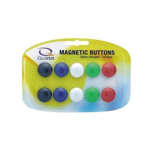 Quartet Magnet Buttons 20mm Assorted Pack10 X CARTON of 5 QTTMB20ASSTD