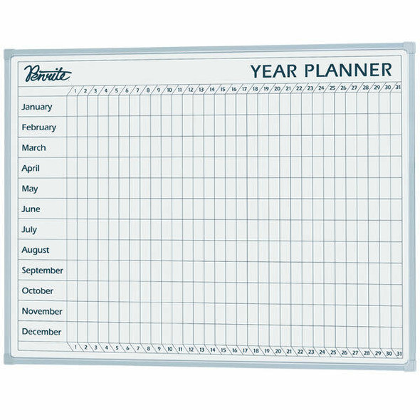 Quartet Penrite Planner Board Year 900x1200mm QTYEAR1209
