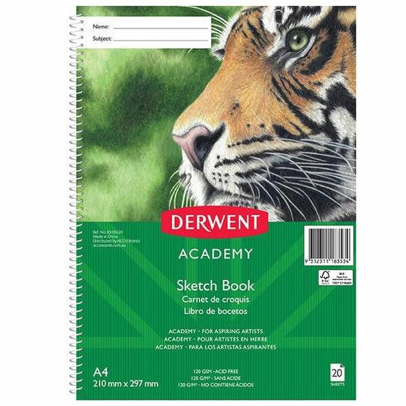 DERWENT Academy Sketch Book 4c Pp Portrait A4 20sht X CARTON of 5 R310420