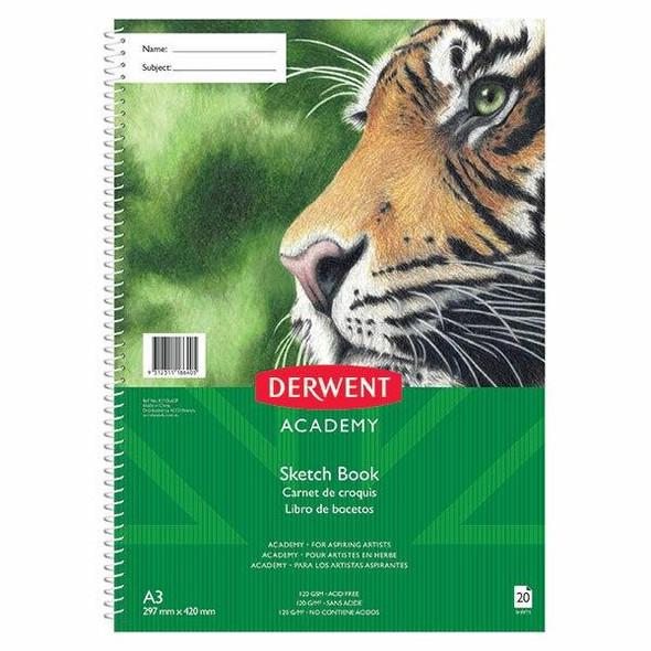 DERWENT Academy Sketch Book Pp 4c Portrit A3 20sht X CARTON of 5 R310440