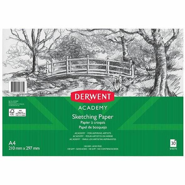 DERWENT Academy Sketch Pad Landscape A4 30 Sheets X CARTON of 5 R31060F