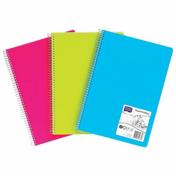DERWENT Visual Art Diary A4 Coloured Assorted X CARTON of 5 R3107599F