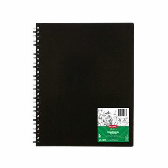 DERWENT Academy Visual Art Diary 11 X 14 Black CARTON of 5 R31090F