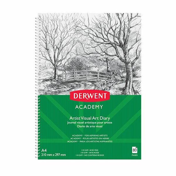 DERWENT Academy Drawing Pad A4 Portrait 80 Pages X CARTON of 5 R31130F