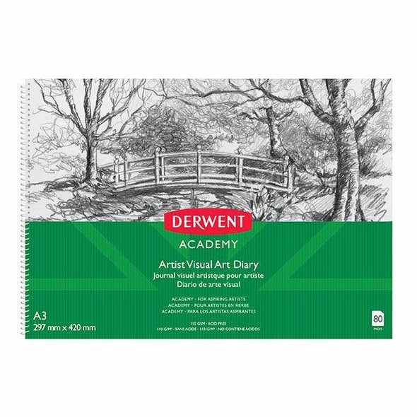 DERWENT Academy Drawing Pad A3 Landscape 80 Pages X CARTON of 5 R31145F