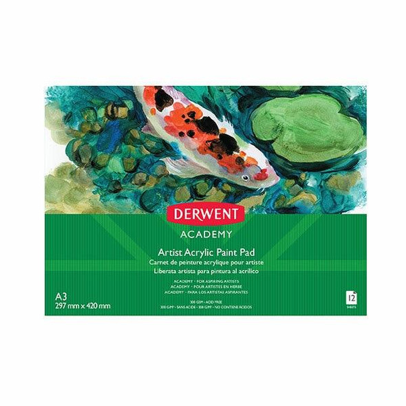 DERWENT Academy Drawing Pad A3 Landscape 12 Sheets X CARTON of 5 R31210F