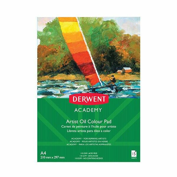 DERWENT Academy Oil Pad A4 Portrait 15 Sheets X CARTON of 5 R31225F
