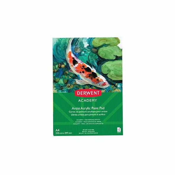 DERWENT Academy Drawing Pad A4 Portrait 12 Sheets X CARTON of 5 R31230F