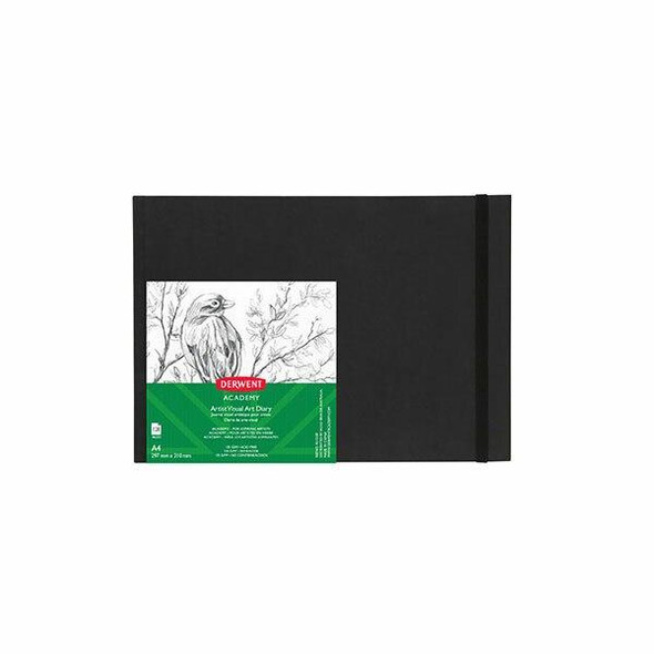 DERWENT Academy Casebound Visual Art Diary A4 Landscape 128 Pages X CARTON of 5 R31310F