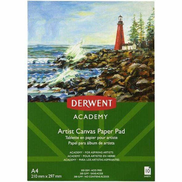 DERWENT Academy Canvas Paper Pad A4 X CARTON of 5 R31325F