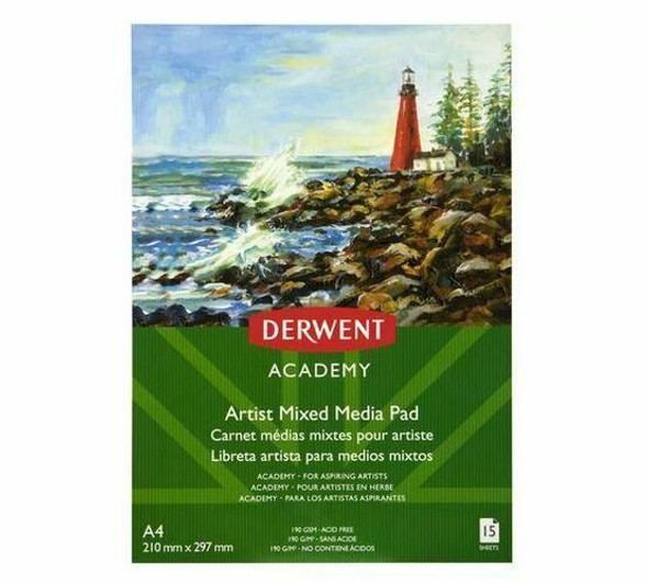 DERWENT Academy Mixed Media Pad A4 X CARTON of 5 R31350F