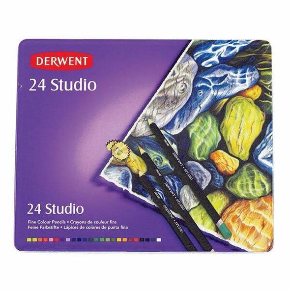 DERWENT Studio Pencil Tin 24 X CARTON of 3 R32197