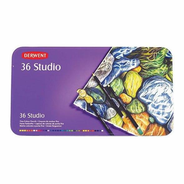 DERWENT Studio Pencil Tin 36 X CARTON of 2 R32198