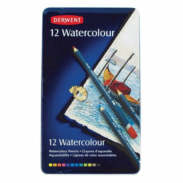 DERWENT Watercolour Pencil Tin 12 X CARTON of 6 R32881