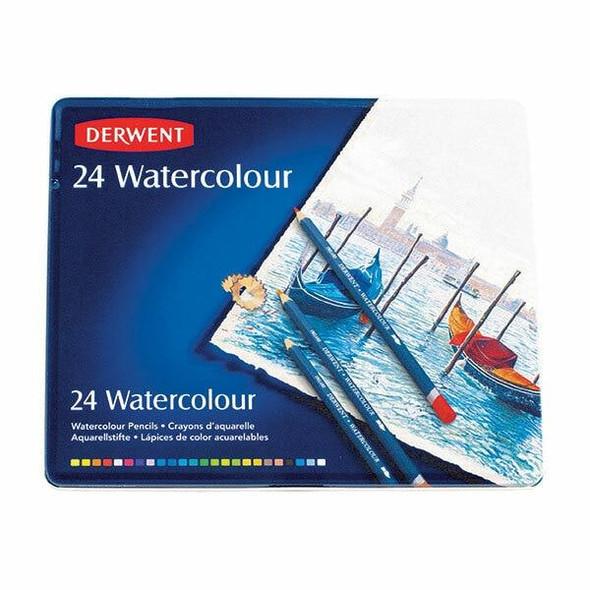 DERWENT Watercolour Pencil Tin 24 X CARTON of 3 R32883