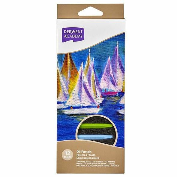 DERWENT Academy Oil Pastel 12Pack X CARTON of 6 R32900