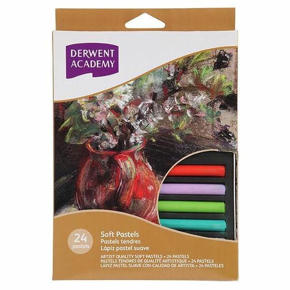 DERWENT Academy Soft Pastel 24Pack X CARTON of 6 R32920