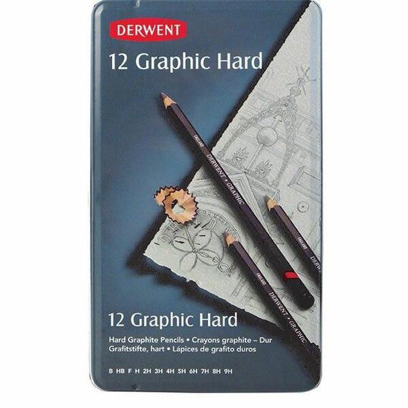 DERWENT Graphic Pencil Hard Tin 12 X CARTON of 6 R34199