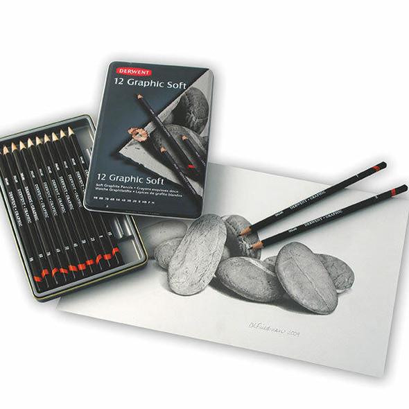 DERWENT Graphic Pencil Soft Tin 12 X CARTON of 6 R34201
