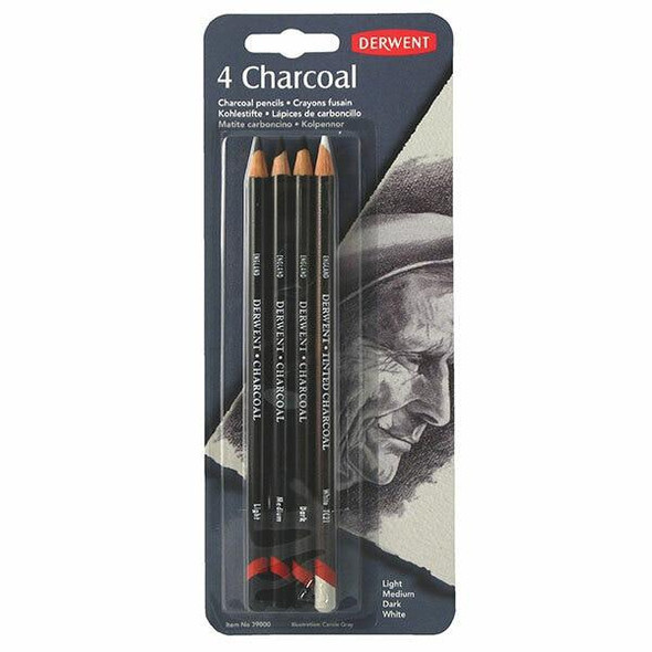 DERWENT Charcoal Pencil Pack4 X CARTON of 6 R39000