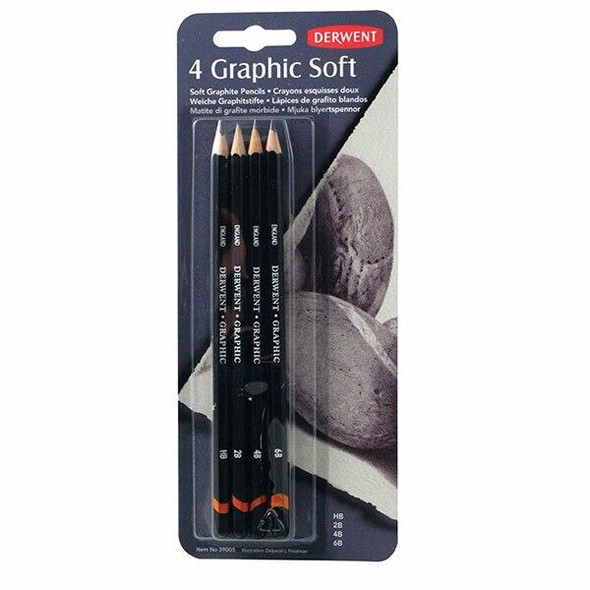 DERWENT Graphic Soft Pencil Pack4 X CARTON of 6 R39005