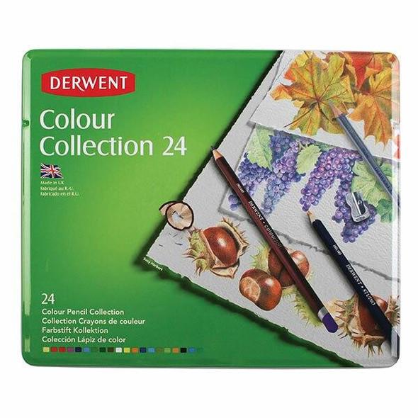 DERWENT Colour Collection Tin 24 X CARTON of 3 R700212