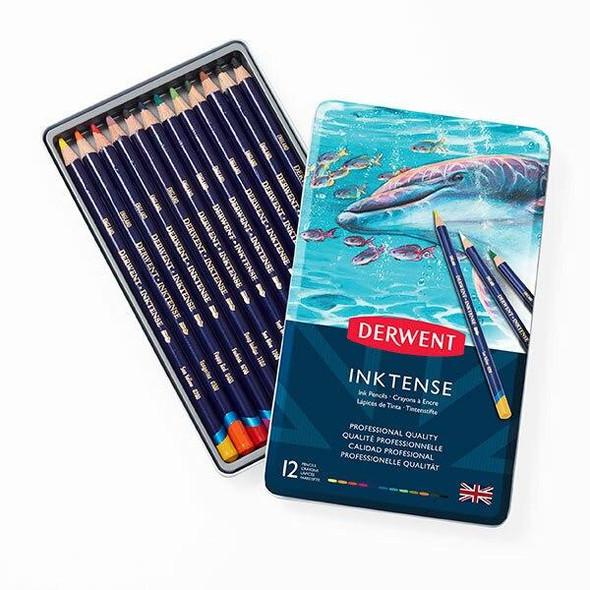 DERWENT Inktense Pencil Tin 12 X CARTON of 6 R700928