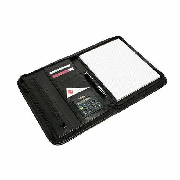 Rexel Compendium Zip Pad Holder Black R90087