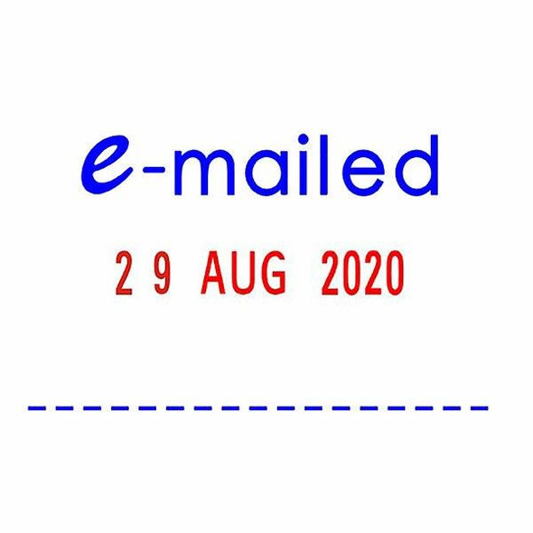 Deskmate Self-Inking Dater Stamp Emailed Blue/Red RP2441LX