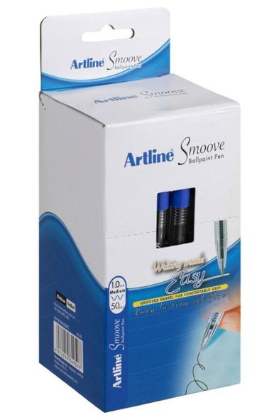 Artline Smoove Ballpoint Stick Medium Blue Box50 SM1821503