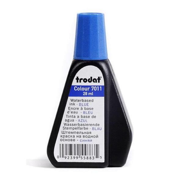 Trodat 7011 Stamp Pad Ink 28ml Blue X CARTON of 10 T70113