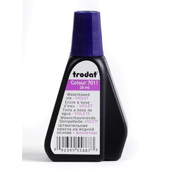 Trodat 7011 Stamp Pad Ink 28ml Violet X CARTON of 10 T70116