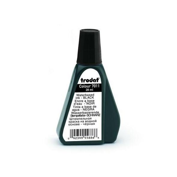Trodat 7011 Stamp Pad Ink 28ml Black X CARTON of 10 T70119