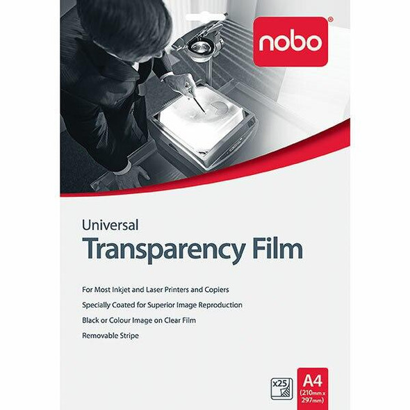 Nobo Ohp Film Universal Ij/Laser Pack25 UF0025