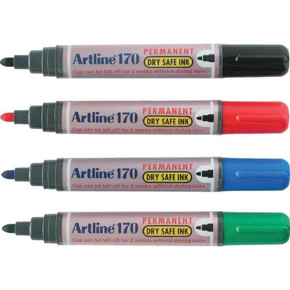Artline 170 Permanent Marker 2mm Bullet Nib Assorted BOX12 101741