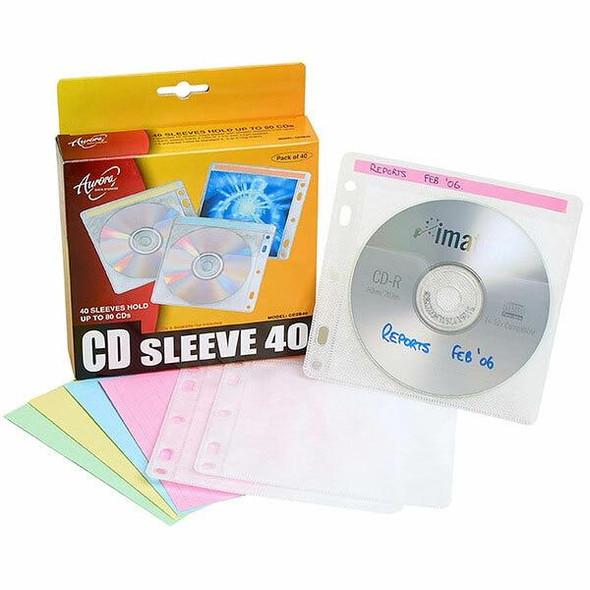 Aurora Cd Sleeve 2 Disc Pack40 CD2B40