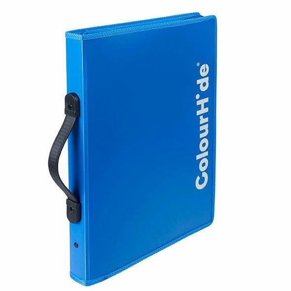 Colourhide Expanding File Zipper Blue X CARTON of 5 9027001