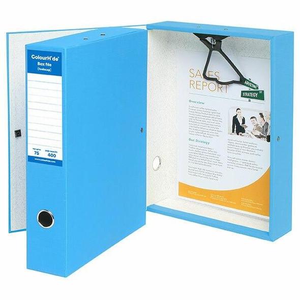 Colourhide Foolscap Box File Blue X CARTON of 4 8001001