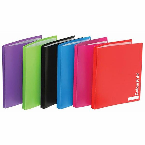Colourhide My Refillable Display Book A4 20 Pocket Black X CARTON of 10 2002802
