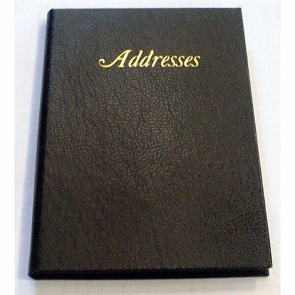 CUMBERLAND Address Book Leathergrain 110x75mm Black 510101