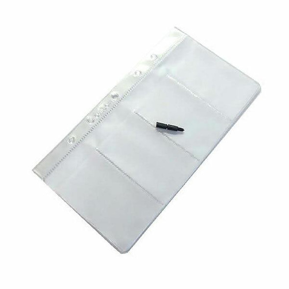 CUMBERLAND Business Card File Refills 4 Pockets To View OMJBCFR